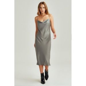 BCBG MAX AZRIA VINTAGE SILK SLIP DRESS